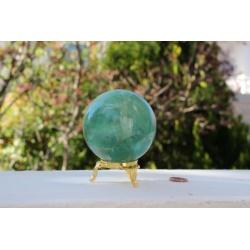 Grande sphère de fluorite verte