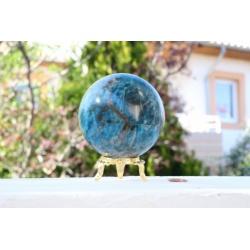 Grande sphère d'apatite bleue