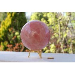 Sphere de quartz rose