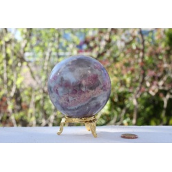 Grande sphere tourmaline rose
