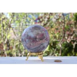 Grande sphere tourmaline rose