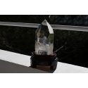 very pure rock crystal obelisk