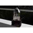 very pure rock crystal obelisk