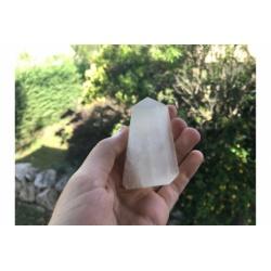 Obélisque de sélénite blanche