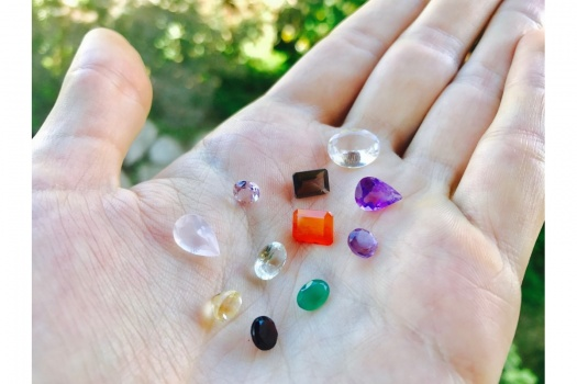 Lot x5 de gemmes pierres semi-précieuses