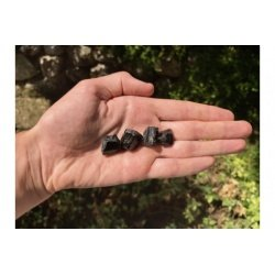 x3 raw black tourmaline