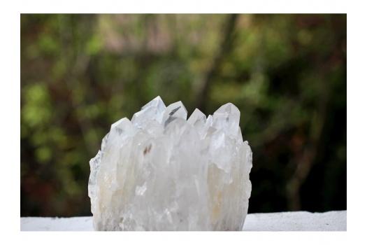 Cluster de quartz cristal de roche