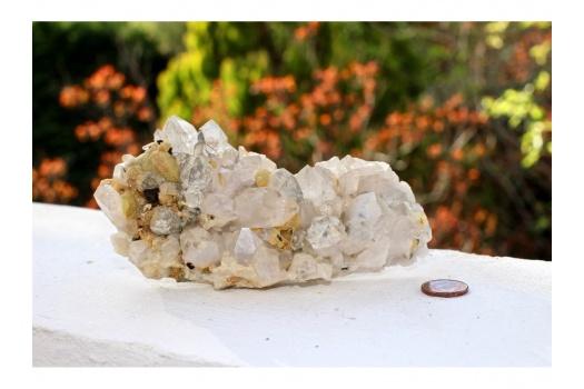 Druse de quartz magnifique
