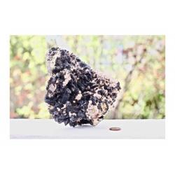 Druse cluster de quartz noir