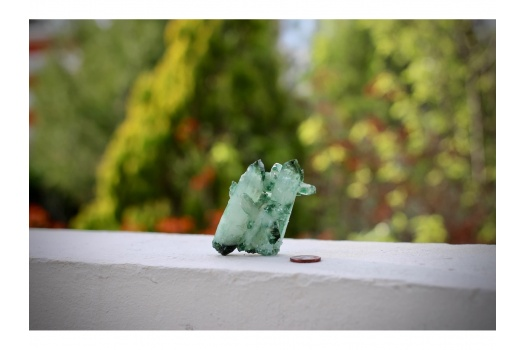 Cluster de quartz vert