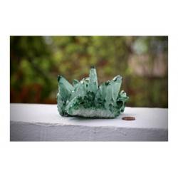 druze de quartz vert