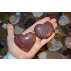 Coeur quartz fraise