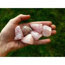 Pierre roulée en quartz rose